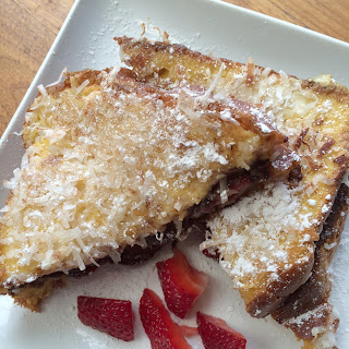 Coconut Crusted Nutella Stuffed French Toast