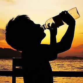 Thirsty by Sengkiu Pasaribu - Babies & Children Children Candids