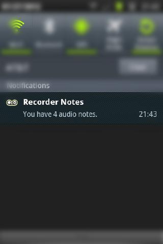 Voice Recorder Status