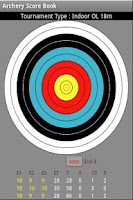 Screenshot of Archery Score Book