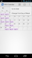 Screenshot of RDO Calendar