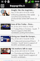 Screenshot of Grillo Blog