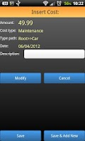 Screenshot of Cost Manager