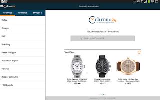 Screenshot of Chrono24