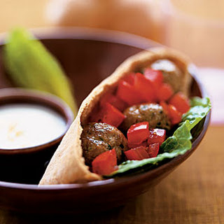 Turkey Meatballs in Pitas