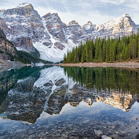 Double Rockies by CK Lam - Landscapes Mountains & Hills ( lake louise, mountains, canada, alberta, canadian rockies, rocky mountains, banff national park, the rockies, lake, moraine lake )