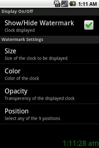 Clock Watermark