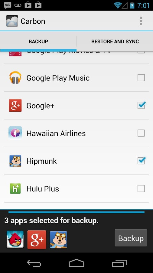 Helium - App Sync and Backup Screenshot 0