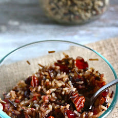 Wild Rice with Caramelized Shallots, Cranberries and Pecans