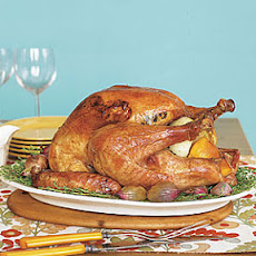 Thyme-Roasted Turkey with Cranberry Gravy