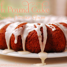 Peach Pound Cake with Peach Nectar Glaze