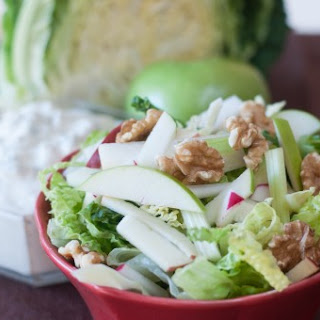 Crisp Winter Salad with Maple Gorgonzola Dressing