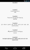 Screenshot of Fonts for FlipFont 54
