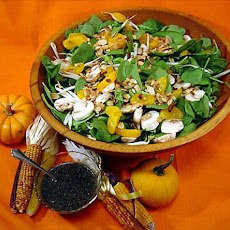 Spinach Salad With Lime Poppy Seed Dressing