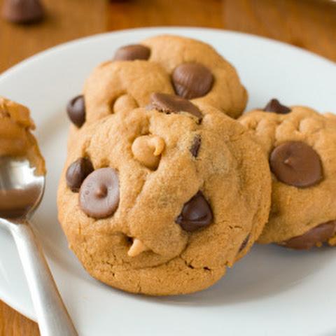 Chocolate Dipped Flourless Peanut Butter Cookies