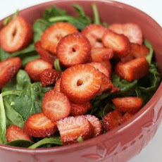 Simple Strawberry and Spinach Salad