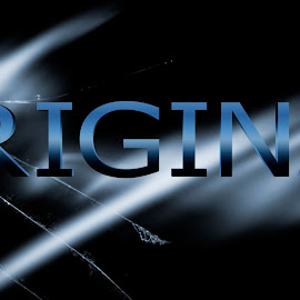 original by Dietmar Kuhn - Typography Words ( abstract, blue, glass, moody, word )