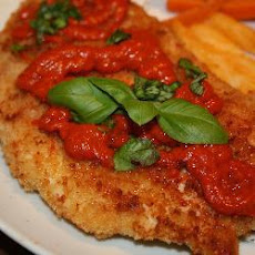 Crumbed Chicken With Roasted Red Pepper Sauce