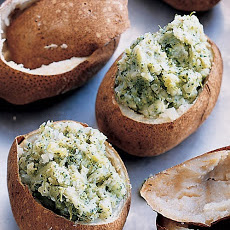 Twice-Baked Potatoes with Broccoli