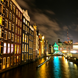 Amsterdam at Night by Ludwig Wagner - Buildings & Architecture Other Exteriors