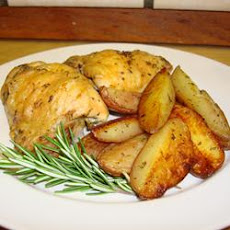 Crispy Rosemary Chicken and Fries