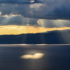 Lights by Blagoja Pulceski - Landscapes Weather ( sunset, weather, lake, landscape, sunlight )