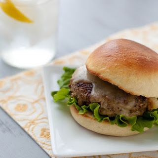 Mushroom-Crusted Turkey Burgers with Havarti