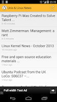 Screenshot of Unix & Linux News