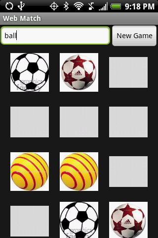 Web Match Memory Game