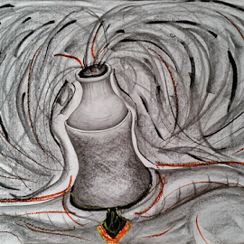 MToldi 14 graphite/crayon A2 by Marcello Toldi - Drawing All Drawing