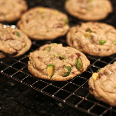 Dark Chocolate, Pistachio and Sea Salt Cookies