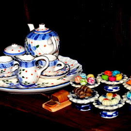 Tea sets and cakes by Taufan F Adryan - Artistic Objects Cups, Plates & Utensils