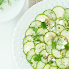 Cucumber and Zucchini Carpaccio Salad