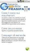 Screenshot of Glossario delle Frasi Fatte