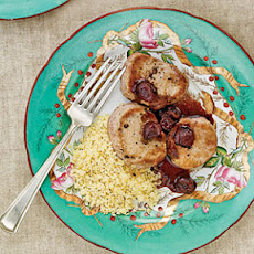 Pork Medallions with Pomegranate-Cherry Sauce