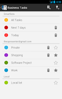 Screenshot of Business Tasks