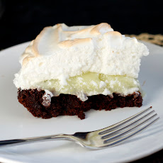 Lemon Meringue Brownie Pie