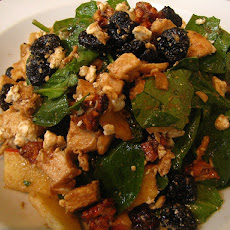 Chicken Piccata Spinach Salad