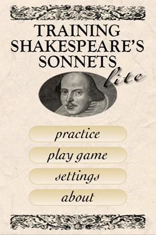Shakespeare Sonnet Trainer Lt