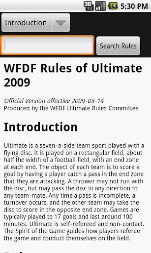WFDF Rulebook