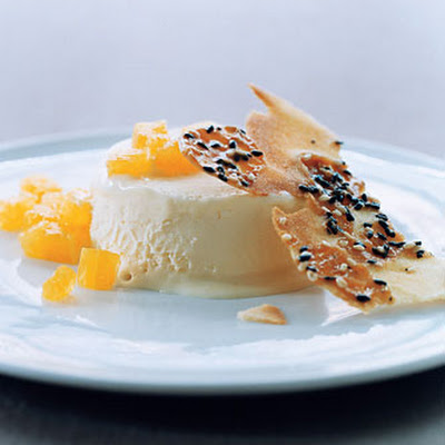 Wildflower-Honey Semifreddo with Honey Sesame Wafers