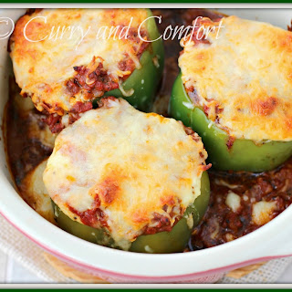 Lasagna Stuffed Bell Peppers