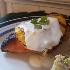 Coconut-Lime Chicken with Grilled Pineapple