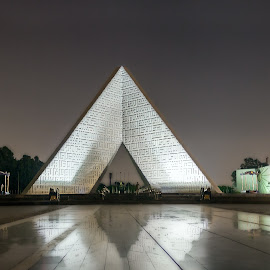 The Unknown Soldier Memorial by Mohamed Galal - Buildings & Architecture Statues & Monuments ( mgy photography, soldier, memorial, night photography, cairo, pixoto, monument, egypt, photography )