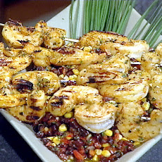 Spicy Barbecued Shrimp Skewers