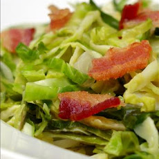 Shredded Brussels Sprouts With Bacon and Onions