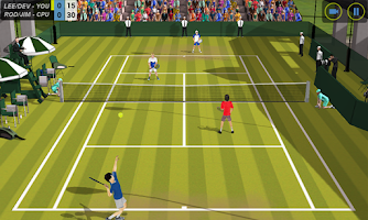 Screenshot of Flick Tennis