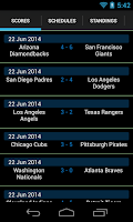 Screenshot of Baseball Live Scores