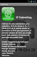 Screenshot of IP Subnetting