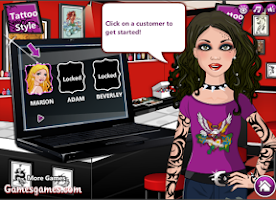 Screenshot of Cute Tattoo Shop - Girls Game